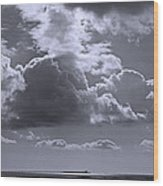 Clouds Gathering Wood Print