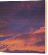 Clouds In Sky With Pink Glow Wood Print by Richard Wear