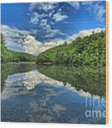 Clouds In The Lake Wood Print by Adam Jewell