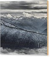 Clouds In The Valley Wood Print
