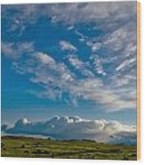 Clouds Iv Wood Print