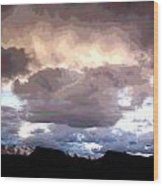 Clouds Natural Art Wood Print