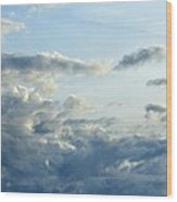 Clouds Of Blue Wood Print
