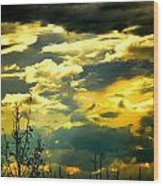 Clouds Of Many Colors Wood Print