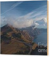 Clouds On The Horizon Wood Print