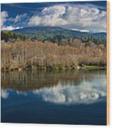 Clouds On The Klamath River Wood Print