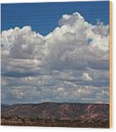 Clouds Over A Mesa Wood Print