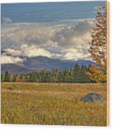 Clouds Over Algonquin Mountain Wood Print