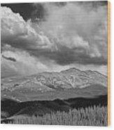 Clouds Over Breckenridge Colorado Wood Print