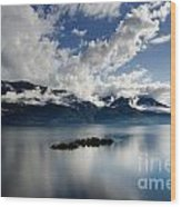 Clouds Over Islands Wood Print