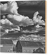 Clouds Over Knox 13804b Wood Print