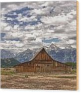 Clouds Over Mormon Row Wood Print