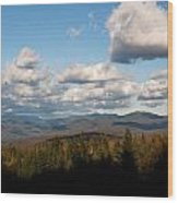 Clouds Over New Hampshire Wood Print