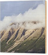 Clouds Over Porphyry Mountain Wood Print