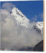 Clouds Over Snow White Peak Wood Print