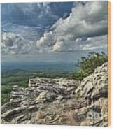Clouds Over The Cliff Wood Print