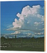 Clouds Over The North Forty Wood Print