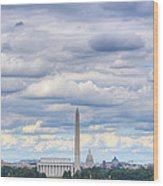 Clouds Over Washington Dc Wood Print by Metro DC Photography