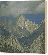 Clouds Shadow Rocky Mountain Peaks Wood Print