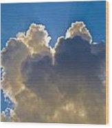 Clouds1 Wood Print