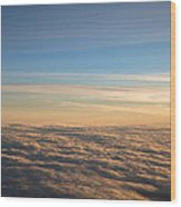 Cloudscape From A 757 Wood Print by David Patterson
