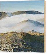 Cloudsurfing Grisedale Pike Wood Print
