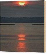 Cloudy Bay Sunset Wood Print