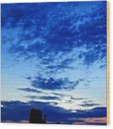 Cloudy Blue Monument Wood Print
