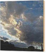 Cloudy Sky Wood Print
