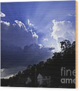 Cloudy With A Chance Of Sunshine Wood Print