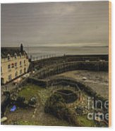 Clovelly Harbour Wood Print