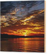 Clover Point Sunrise Wood Print