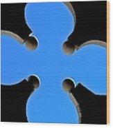 Cloverleaf Window Wood Print