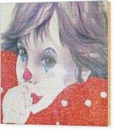 Clown Baby Wood Print
