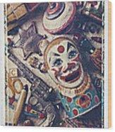 Clown Bank Wood Print