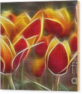 Cluisiana Tulips Fractal Wood Print