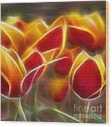 Cluisiana Tulips Triptych Panel 2 Wood Print