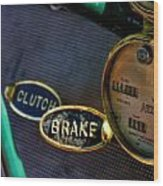 Clutch And Brake Wood Print