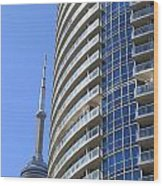 Cn Tower Wood Print