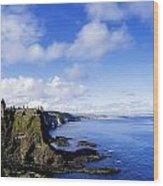 Co Antrim, Dunluse Castle Wood Print