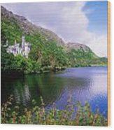 Co Galway, Ireland, Kylemore Abbey Wood Print