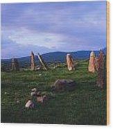 Co Kerry, Ireland, Stone Circle Wood Print