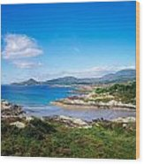 Co Kerry, Ring Of Kerry, Castlecove Wood Print