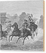 Coaching, 1860 Wood Print