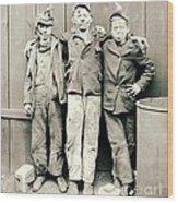 Coal Breaker Boys 1900 Wood Print