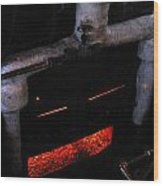 Coal Burner Face Wood Print