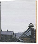 Coal Mine Wood Print