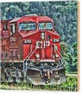 Coal Train Hdr Wood Print