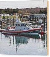 Coast Guard Wood Print by Extrospection Art