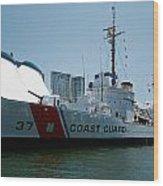 Coast Guard History  Wood Print